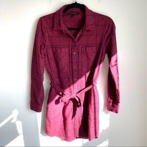 Banana Republic Flannel Shirt Dress Size 0